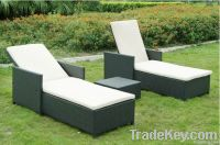Rattan/wicker PE sun lounger chaise lounge furniture garden furniture outdoor furniture