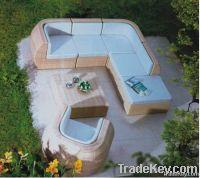 PE Resin Poly Patio Sectional Sofa Set Outdoor Garden Wicker Furniture rattan furniture outdoor furniture