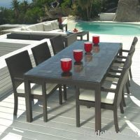 Rattan / Wicker dining table set Outdoor Furniture Garden table Set garden furniture table set
