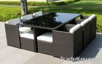 Poly Rattan Wicker Patio dining set table and chair furniture