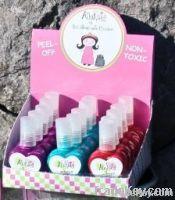AllyKats Nontoxic Peel-Off Nail Polish - Set of 15