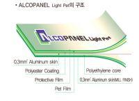 Alcopanel light pet - aluminum composite panel interior designed