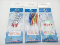 2016 new arrive hot sale popular 1 pack sabiki rigs fishing lures jig string hooks