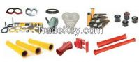 Spare parts for concrete pumps and transit mixers