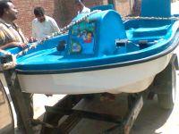 Fiberglass paddle boat