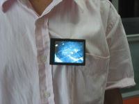 """OLED 2.8"""" Video Name Tag With Audio"""