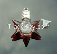 Rice Jewelry, wishing bottle, name on rice glass vials pendants