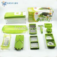Green Plastic multifuctional vegetable slicer