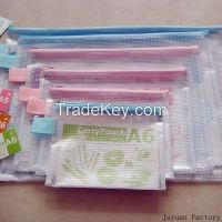 pvc zipper bag grid bag mesh bag