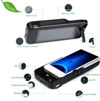 solar battery charger case 3000mah for I5 phone