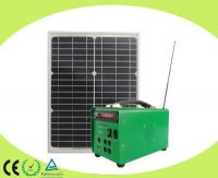 15W Portable Solar Energy System With Radio and MP3 Player Speaker