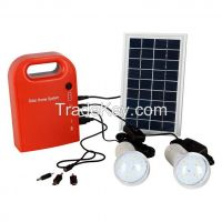 Portable solar charger battery LED light small solar energy system