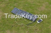 Foldable solar panel with 8000mah battery trip extra battery hiking battery