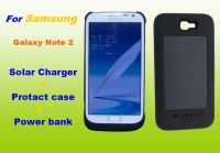 Solar Recharge Battery Case for Samsung Galaxy Note 2 N7100 Power Bank 3000mah
