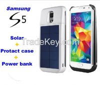 Solar charger case for Samsung Galaxy S5 protect case for S5 4000mah