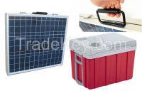 Latest Solar Refrigerator 40L capacity DC refrigator fishing camping outdoor refrigerator portable solar refrigator