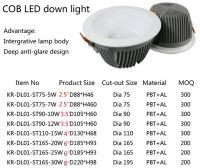 LED down light, anti-glare down light, slim down light