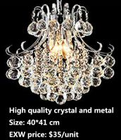 LED pendant light, crystal chandelier lamp,