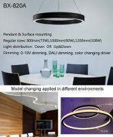 LED linear light, office light, round lamp