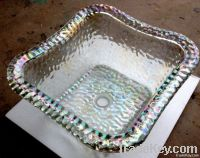 Sell Salon Pedicure Spa Glass Bowl With Sparkle