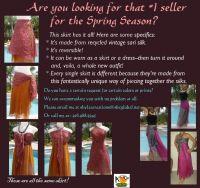 Multiwear reversible sari skirt
