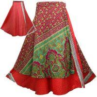 Vintage Sari Skirt Two Layer Wrap Multiwear