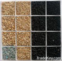 recycled black rubber granule