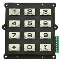Water proof 3x4 12keys numeric Zinc alloy keypad for access control system