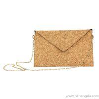 2016 hot sale stitching cork cloth shoulder bag shopping bag