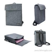 Nature style stitching cork cloth backpack fashion bag