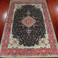 5x8 Red Oriental Persian Pure Silk Rugs Handmade Hand Knotted Carpets Chinese Facotry