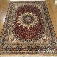 6x9 Chinese Handmade Oriental Persian Silk Rugs Hand Knotted Silk Carpets