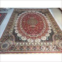 Decorative Iranian Persian Silk Carpet Handmade Hand Knotted Large Traditional Bedroom Oriental Area Rugs