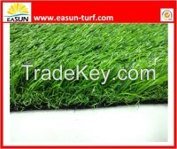 Soft Feeling and Durable Resistance Artificial Grass with Straight and Curly Fiber Applied in Landscaping and Gardening Decoration