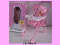 """14"""" Baby Doll with Stroller"""