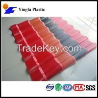 synthetic resin tile coated with ASA
