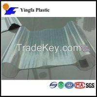 transparent corrugated fiberglass clear roof tile panels
