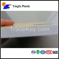 high density plastic 4*8 thin foam sheet thickness PVC sheet price