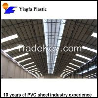 Strong plastic building materials translucent FRP plastic roofing sheet for skylight