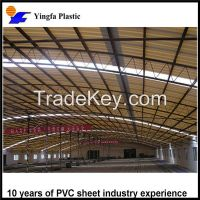 The cheapest 10-year guarantee translucent FRP plastic roofing sheet for passenger foot-bridge