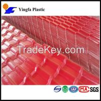 good quality pvc plastic sheet red roofing shingles plastic building materials