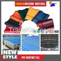 Waterproofing and fireproofing plastic roof PVC roofing sheet roof clay roof tiles