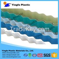 The cheapest strong translucent PVC plastic roofing sheet for passenger foot-bridge
