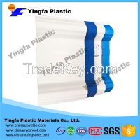 The cheapest 10-year guarantee translucent PVC plastic roofing sheet for passenger foot-bridge