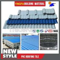 Fast installation outdoor translucent PVC plastic shingles