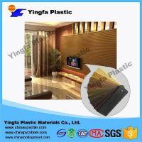 interior decorative waterproof and fireproof plastic wall sheet