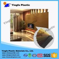 plastic decorative sheet interior wall fire resistant decorative wall panel