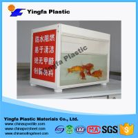 PVC hollow furniture board cabinet in bathroom