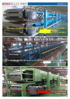 Double belt slat conveyor system