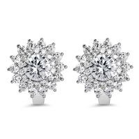 BridalMe 10.76CTW White Cubic Zirconia .925 Sterling Silver Earrings